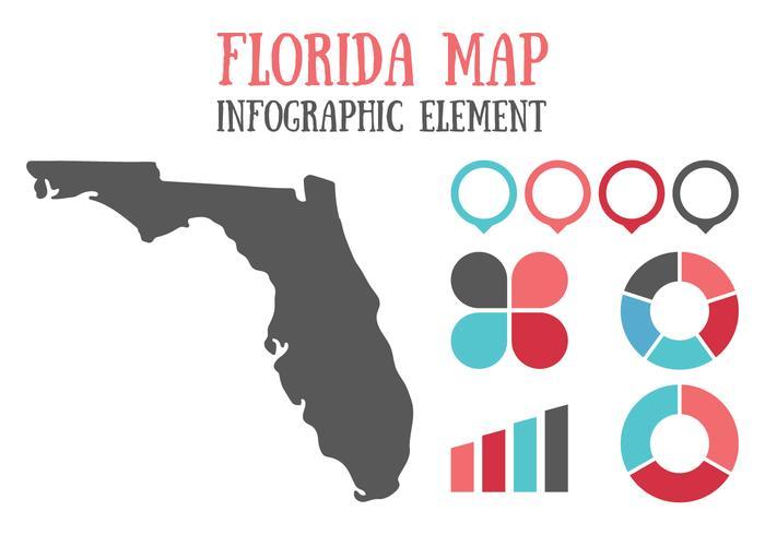 Florida Kaart En Infographic Element vector