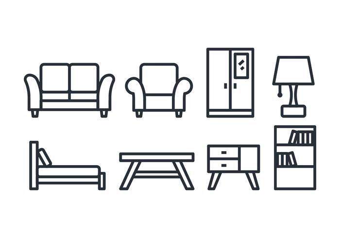 Home stuff icon pack vector