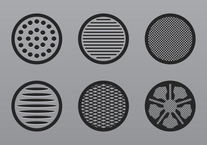 Luidspreker grill pictogram vector