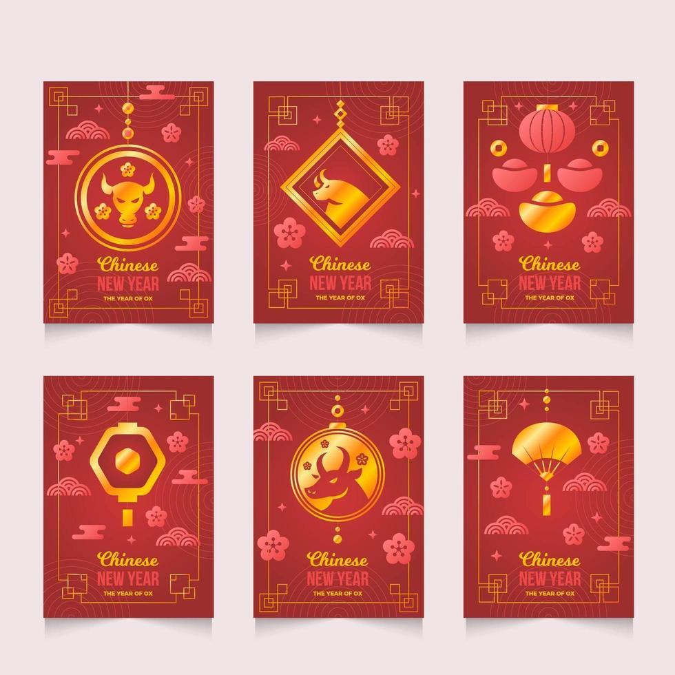 Chinese nieuwjaarskaarten vector