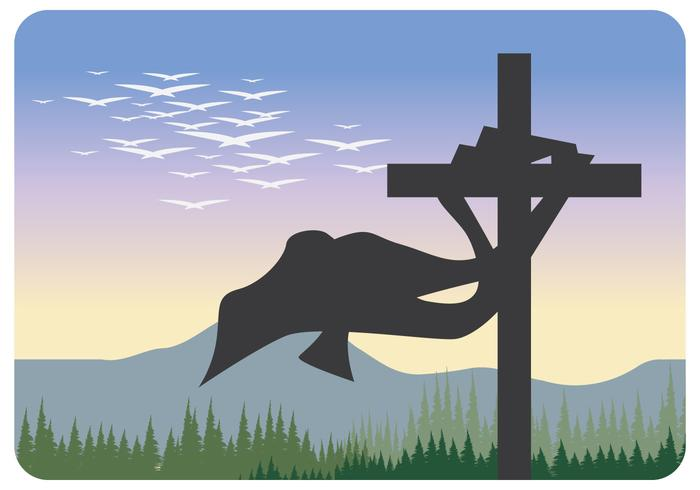 Silhouet van Heilige Kruis Vector