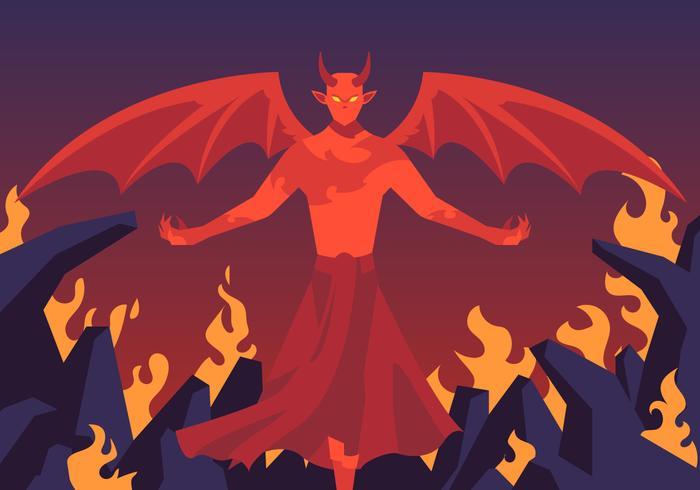 Lucifer In Helve Vector