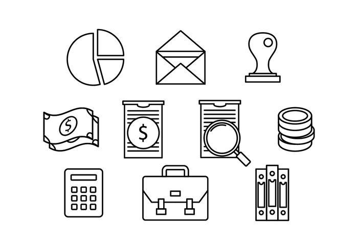 Gratis Bookkeeping Line Icon Vector