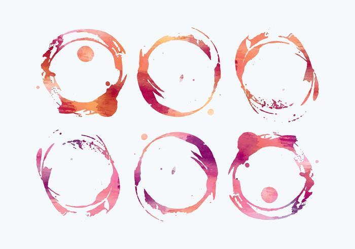 Vector Waterverf Wijn vlekken