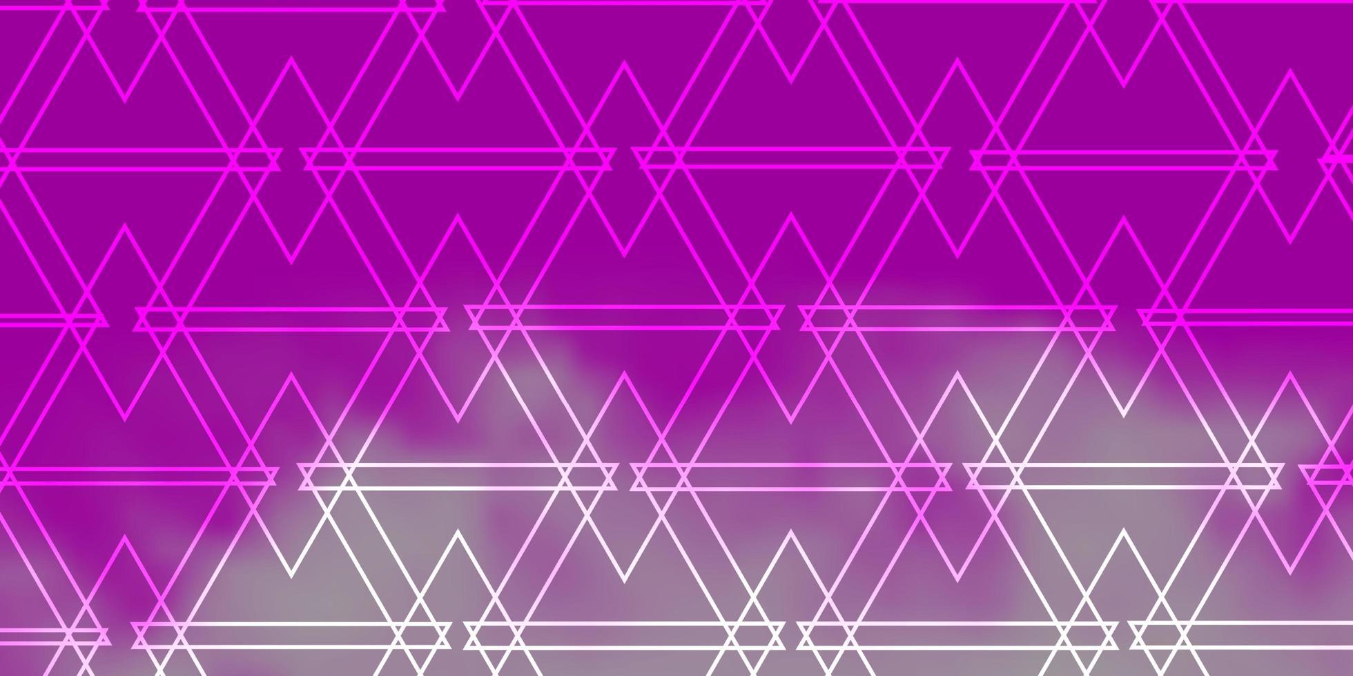 roze patroon met veelhoekige stijl. vector