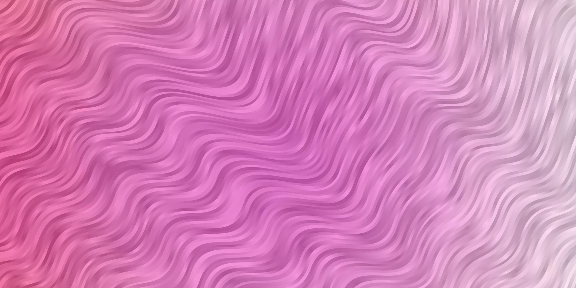 lichtroze achtergrond met gebogen lijnen. vector