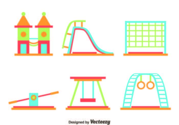 Platte speelplaats element vector