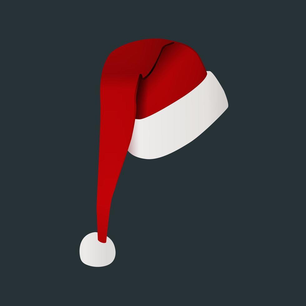 kerstman hoed vector