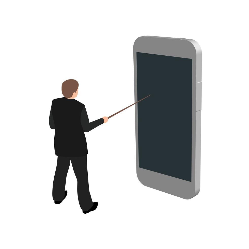 online onderwijs illustratie vector