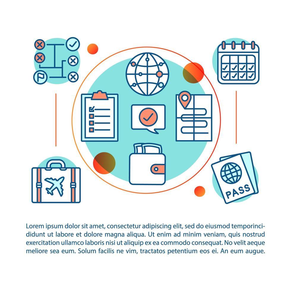 reis planning concept vector