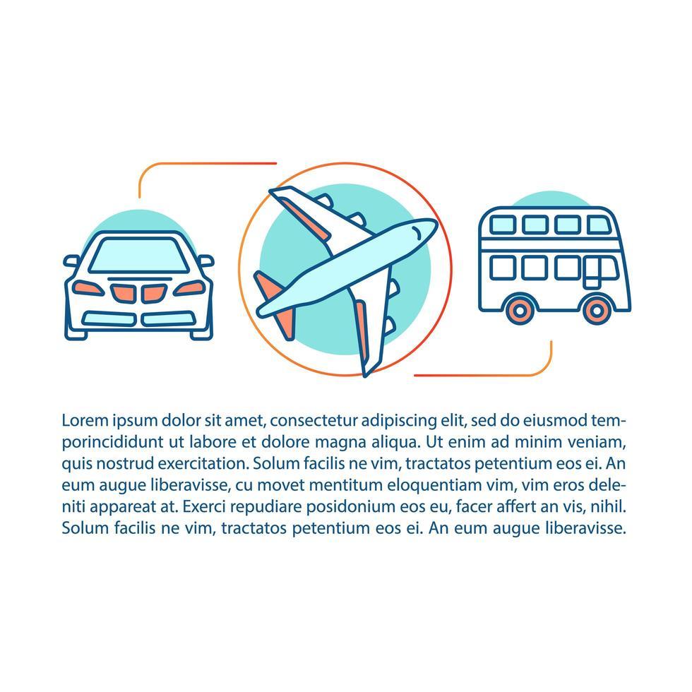 openbaar vervoer concept vector