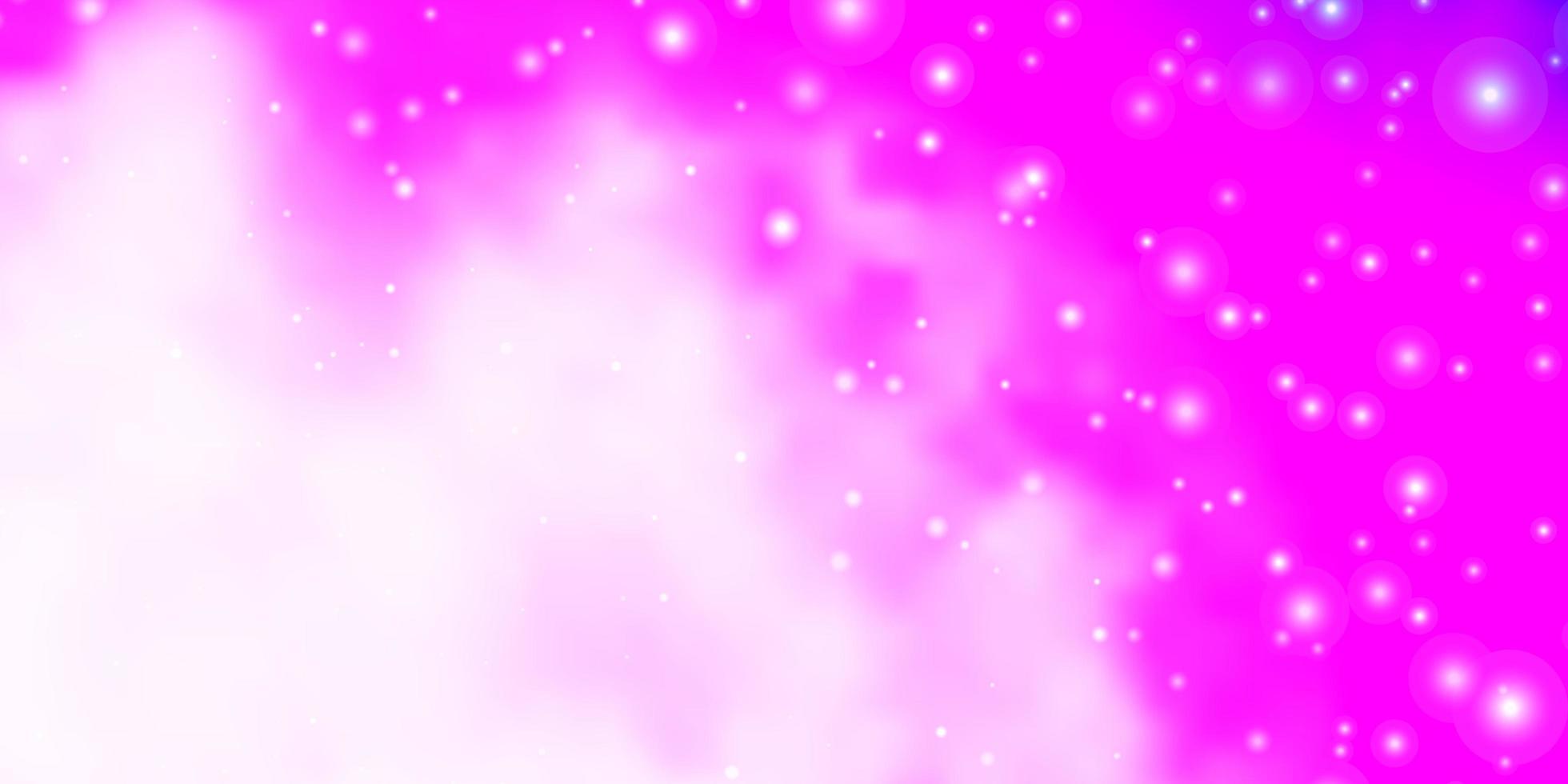 lichtroze patroon met abstracte sterren. vector
