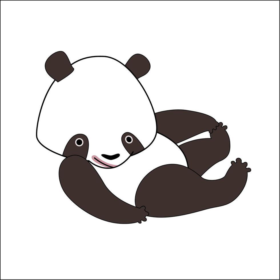schattige cartoon panda beer vector