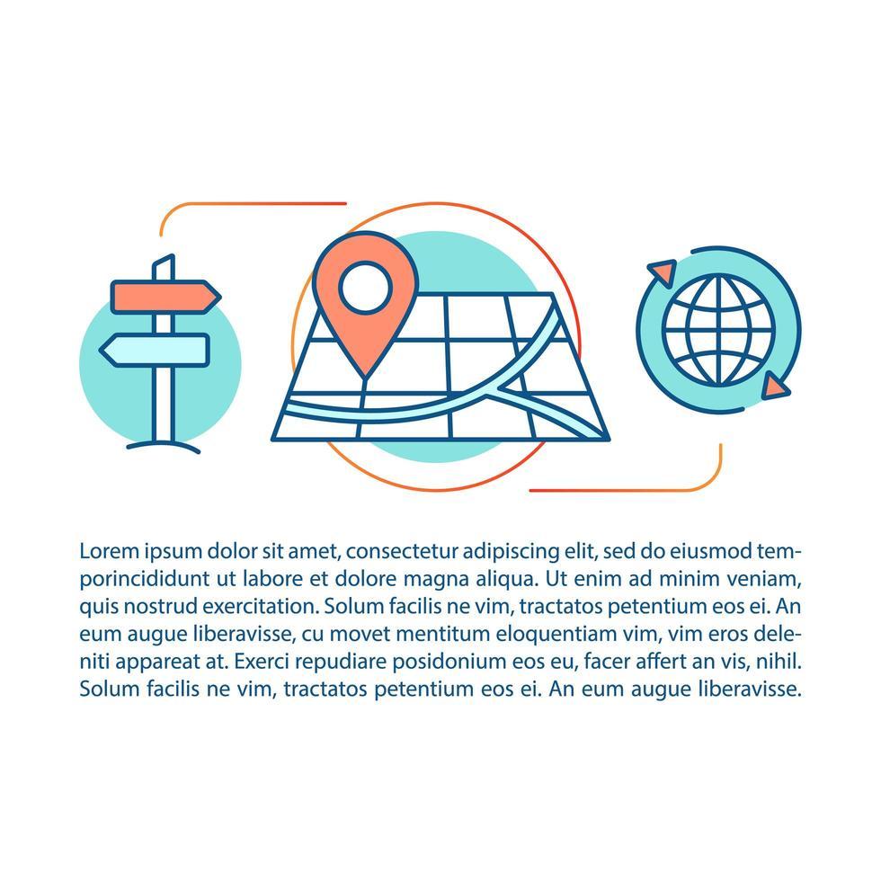 richting en route zoeken concept vector