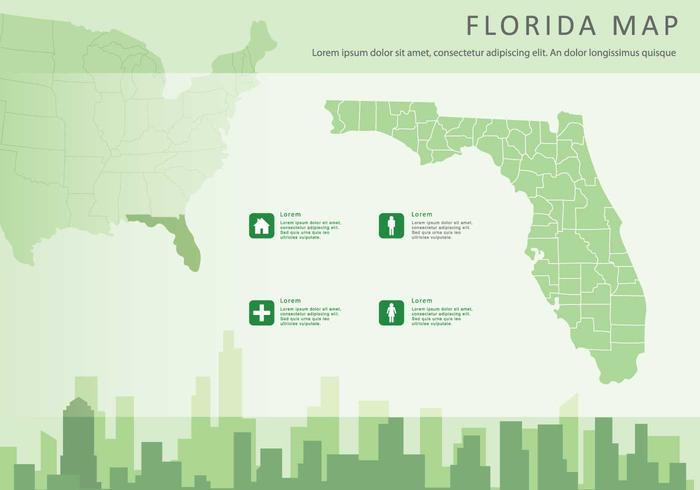Gratis Florida Kaart Illustratie vector