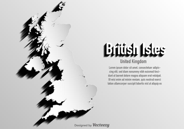 Vector Verenigd Koninkrijk / Britse Eilanden Kaart