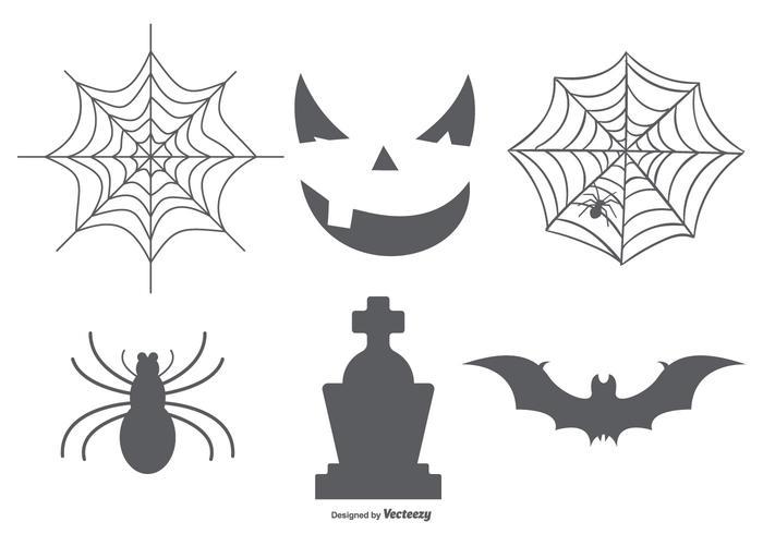 Halloween elementen collectie vector