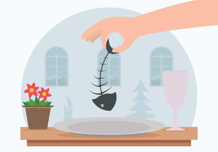 Vis Dinner Illustration vector