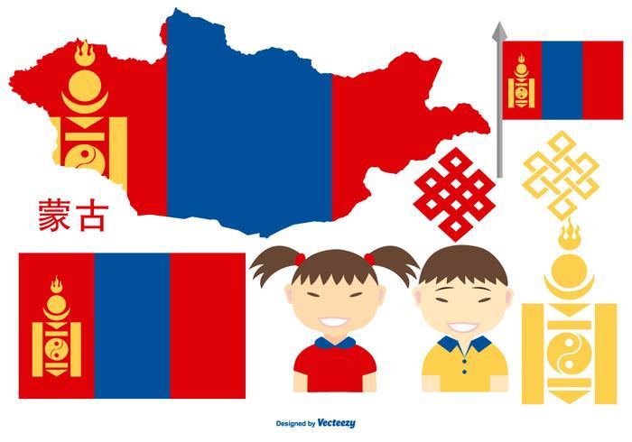 Mongolië Vector Elementen Collectie