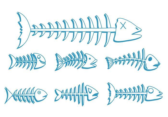 Fishbone vector set