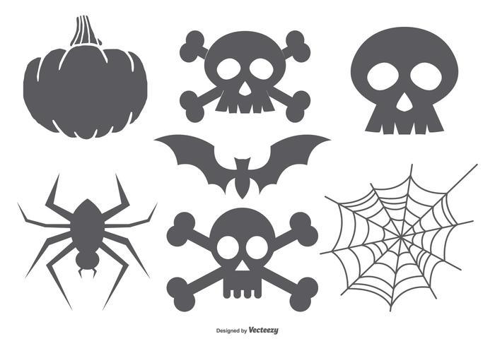 Halloween Vectorvormen Collectie vector