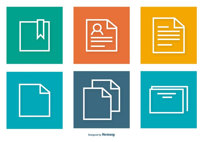 Kleurrijke Document Icons Collection vector