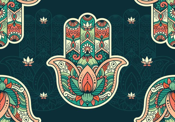 Hamsa Patroon Behang vector