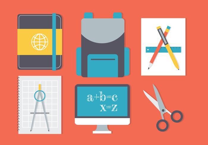 Gratis Terug naar School Vector Achtergrond