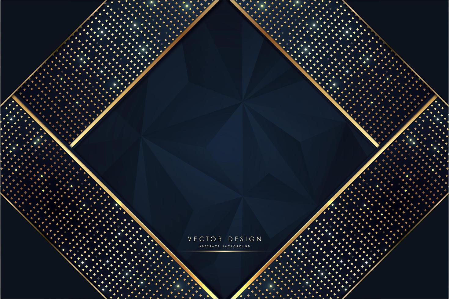 luxe blauwe en gouden metalen achtergrond vector