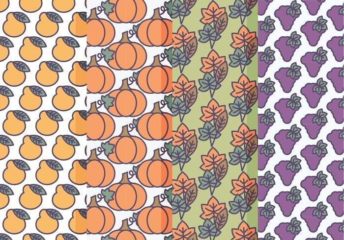Vector Set Fall Patterns