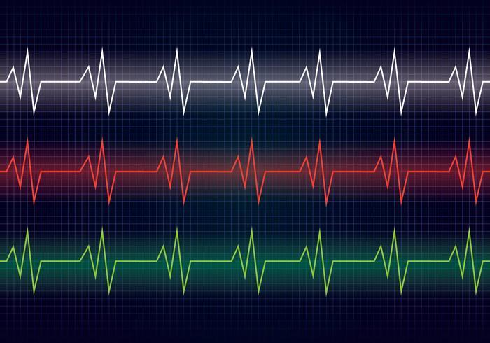 hart ritme lijn vector