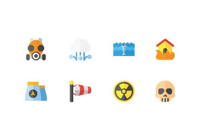 Natuurramp en weer iconen vector