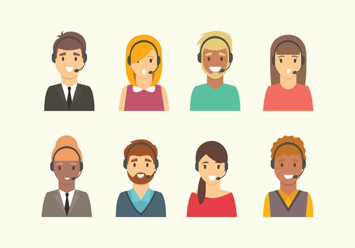 Call Center People Vectors