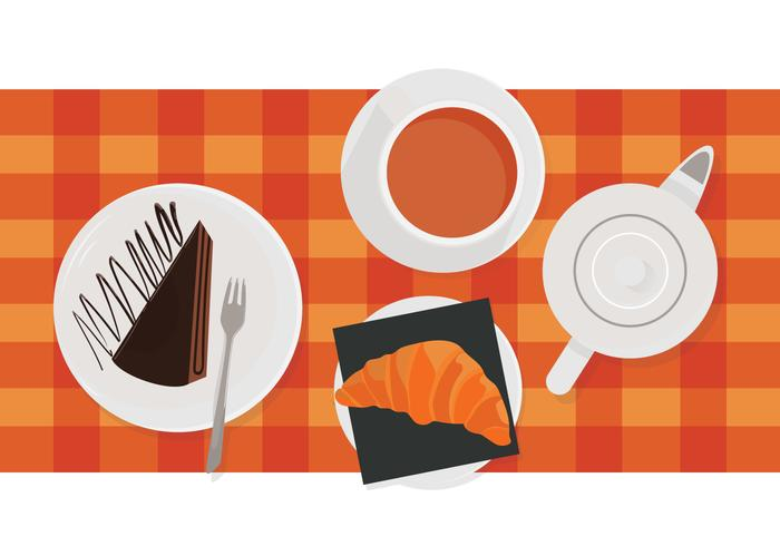 Cafe Ontbijt Menu vector