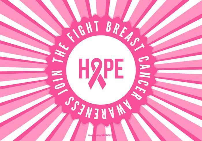Achtergrond van de voorlichting van borstkanker vector