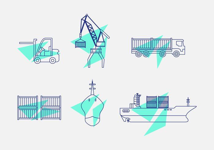 haven icon set vector