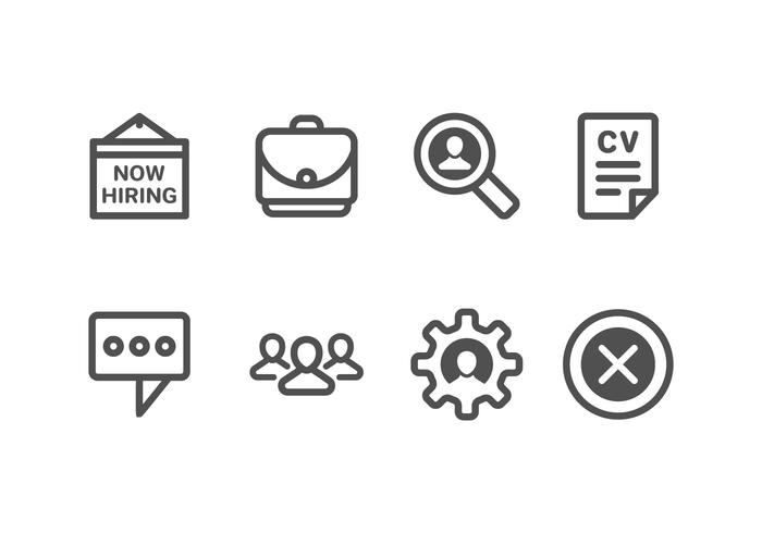 Nu Hiring & Recruitment Set Icons vector