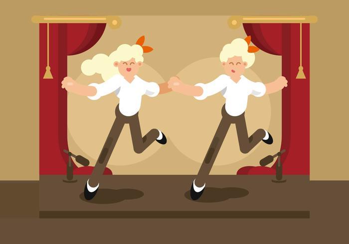 Tik op Dancer Illustratie vector