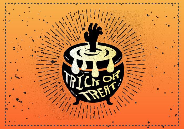 Gratis Vintage Halloween Vectorillustratie vector