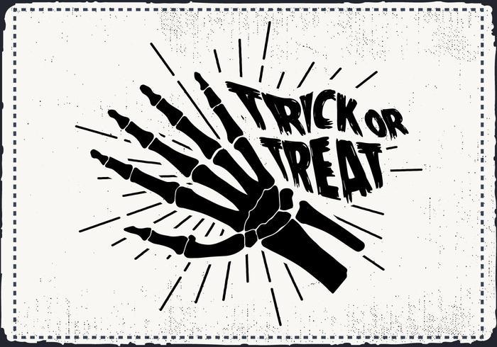 Gratis Scary Halloween Skeleton Hand Vector