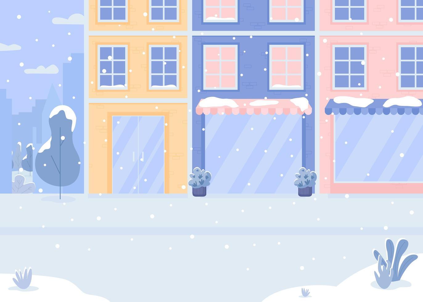 bedekt met sneeuwstraat vector