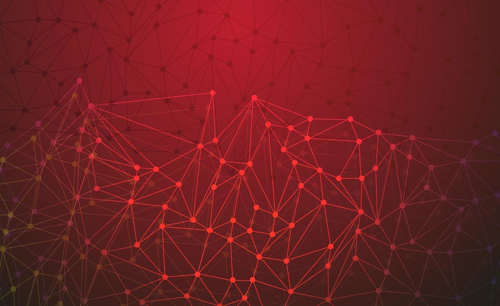 rode netwerk- en technologieachtergrond vector