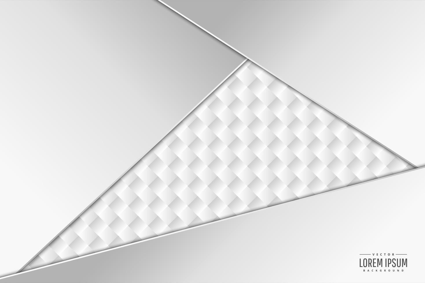 moderne witte en zilveren metalen achtergrond vector