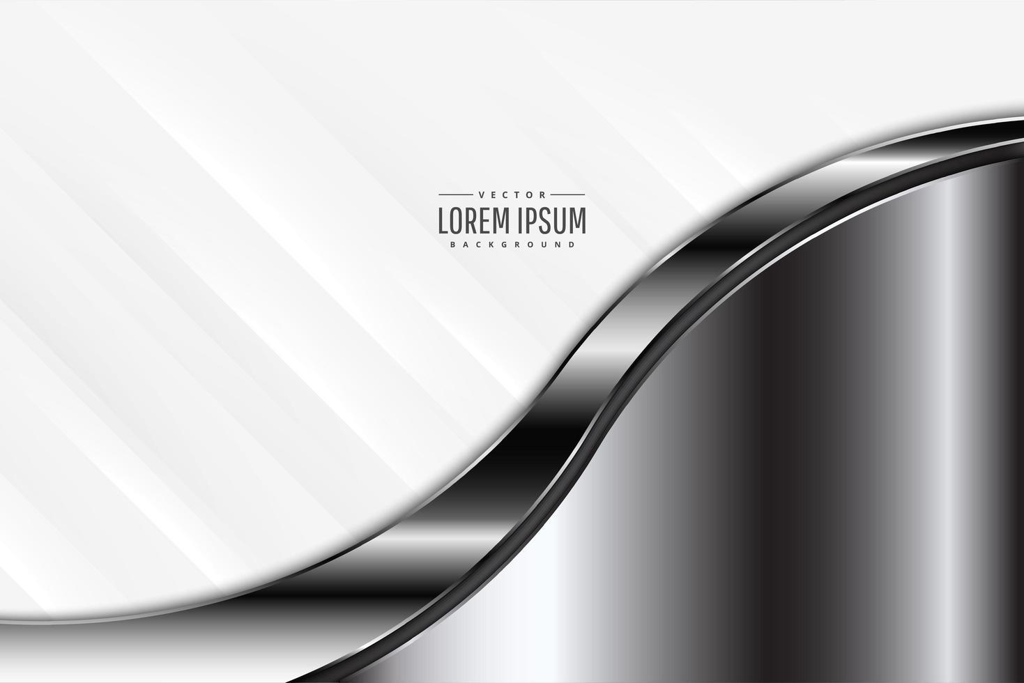 moderne zilveren en witte metallic achtergrond vector