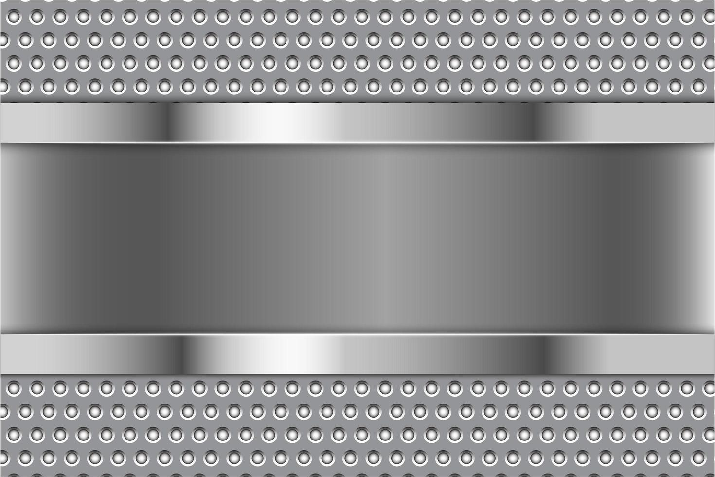 moderne zilveren en grijze metalen achtergrond vector