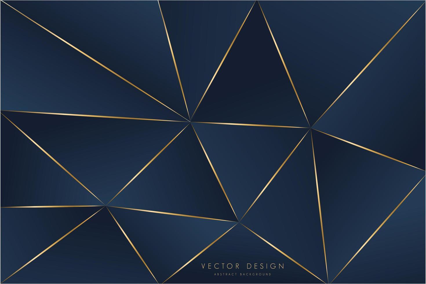 moderne blauwe en gouden metalen achtergrond vector