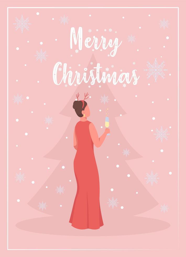 vieren kerst wenskaart vector