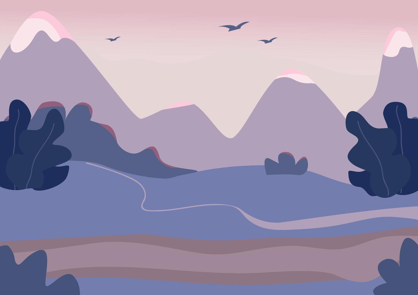 berg terrein scène vector