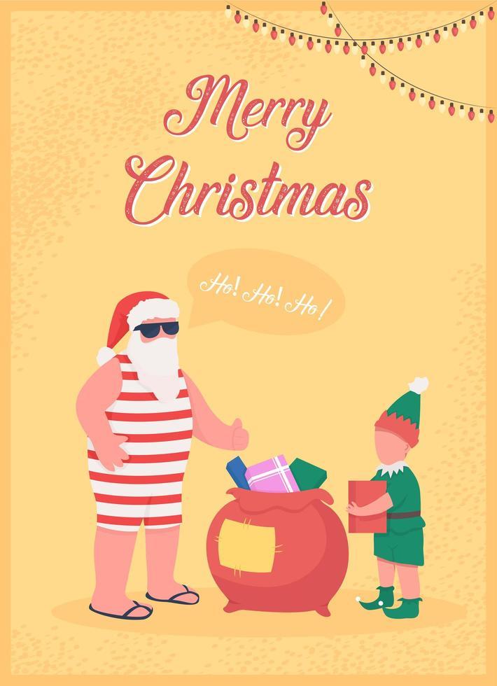 kerstman groet wenskaart vector