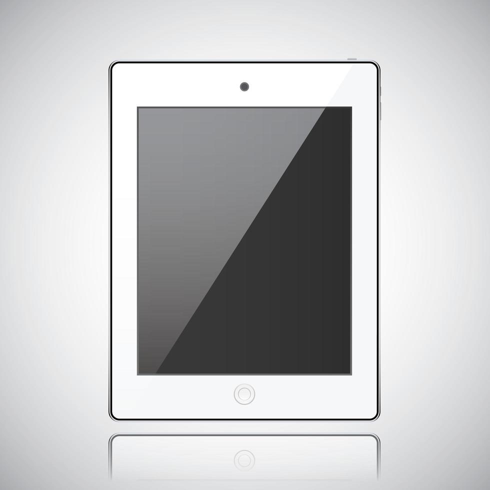 nieuwe realistische tablet moderne stijl grijze achtergrond vector